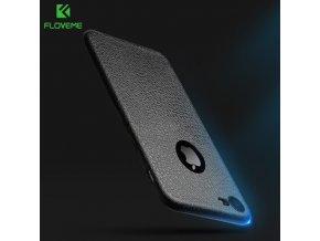 Kryt FLOVEME TPU Leather se vzorem kůže pro iPhone 6/6S, černý
