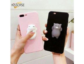 Kryt KISSCASE 3D Kočka Anti-stress pro iPhone 5 / 5S / SE