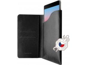 Kožené pouzdro FIXED Pocket Book pro Apple iPhone X/XS, černé