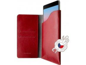 Kožené pouzdro FIXED Pocket Book pro Apple iPhone X/XS, červené