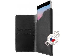 Kožené pouzdro FIXED Pocket Book pro Apple iPhone X/XS, šedé