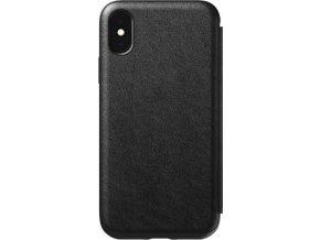 Nomad Folio Leather case, black - iPhone XS/X