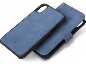 Decoded Leather 2in1 Wallet, blue - iPhone XR