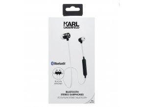 Bluetooth sluchátka Karl Lagerfeld Bluetooth Stereo Headset White (EU Blister)