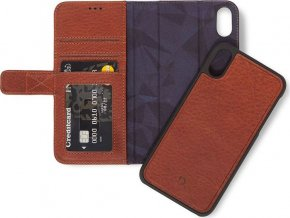 Decoded Leather 2in1 Wallet, brown - iPhone XS Max