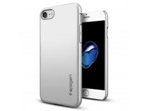 Kryt Spigen Thin Fit, satin silver - pro iPhone 7/8