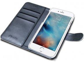 Pouzdro typu kniha CELLY Wally pro Apple iPhone 7 Plus, PU kůže, bílé