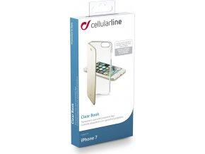 Průhledné pouzdro typu kniha CellularLine Clear Book pro Apple iPhone 7/8, zlaté