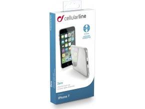 Ultratenký zadní kryt CellularLine ZERO pro Apple iPhone 7/8, čirý