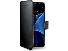 Pouzdro typu kniha CELLY Wally pro Samsung Galaxy S7 EDGE , PU kůže, černé