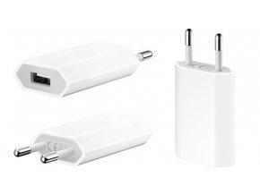 Mini USB nabíječka / Nabíjecí adaptér pro Apple iPhone 4/4S/5/5S/5C/SE, 6/6S, 6 PLUS/6S PLUS, 7/7 PLUS, 8/8 PLUS, X (1A)