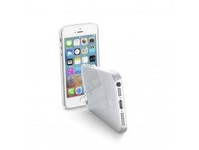 Ultratenký zadní kryt CellularLine ZERO pro Apple iPhone 5:5S:SE, čirý + fólie