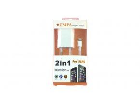 Nabíjecí adaptér 2v1 + USB kabel Lightning pro Apple iPhone 5/5S/5C a 6/6S/6 PLUS/6S PLUS