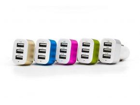 Auto adaptér NOKOKO 3x USB do zapalování