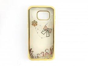 Kryt Crystal Mašle pro Samsung Galaxy S7 EDGE - GOLD