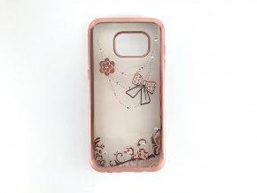 Kryt Crystal Mašle pro Samsung Galaxy S7 EDGE - ROSE