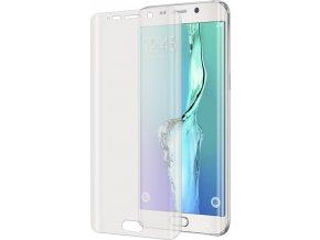 Prémiová ochranná tvrzená fólie displeje CELLY pro Samsung Galaxy S6 Edge, plná zaoblená, lesklá