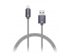 connect it wirez premium metallic lightning usb silver gray 1m ies130727
