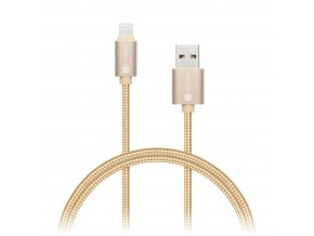connect it wirez premium metallic lightning usb gold 1m ies130728