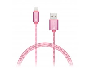 connect it wirez premium metallic lightning usb rose gold 1m ies130729