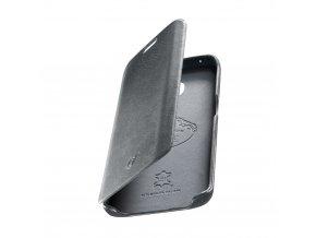 Luxusní pouzdro typu kniha CellularLine SUITE pro Samsung Galaxy S6 Edge, pravá kůže, šedé
