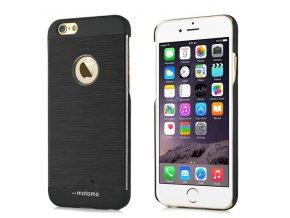 Kryt Motomo Brushed Steel pro iPhone 6/6S – černý