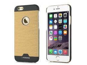 Kryt Motomo Brushed Steel pro iPhone 6/6S – zlatý