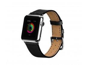 HOCO 3v1 kožený řemínek / pásek Art Series Platinum pro Apple Watch 42mm – Black