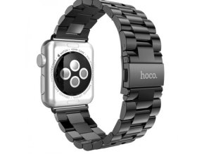 Kovový řemínek : pásek pro Apple Watch 42mm HOCO, Grand Series Slim fit Metal 3 Pointers – Black main
