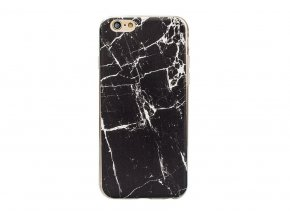Kryt Clearo Design Marble pro iPhone 5/5S/SE - Black / White