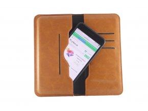 Pouzdro s peněženkou Clearo Business Magnetic Wallet XL pro iPhone 6 Plus/6S Plus/7 Plus/8 Plus - hnědé