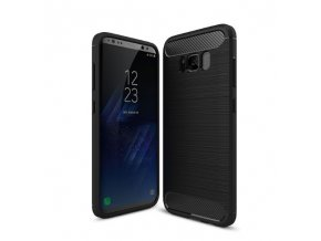 Kryt Clearo Carbon Armor, Black - pro Samsung Galaxy S8