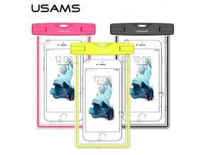 USAMS Luminous Vodotěsné Pouzdro Black pro Smartphone 5.5%22