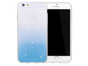 Stylový kryt pro iPhone 6/6S - Glitter Duo Blue