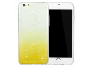 Stylový kryt pro iPhone 6/6S - Glitter Duo Yellow