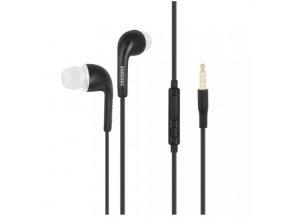 Samsung originální sluchátka s ovládáním a mikrofonem, černé