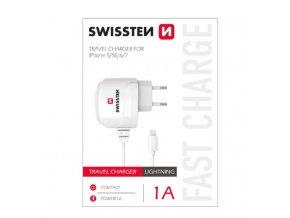 Nabíječka do sítě Swissten s Lightning konektorem pro iPhone SE/5/6/7/8/X
