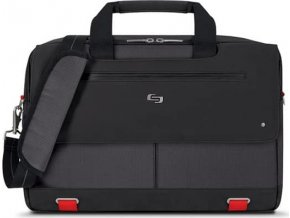 Solo Mission Briefcase, black/red - 15.6