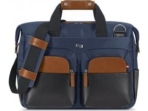 Solo Sag Harbor Briefcase, blue - 15.6