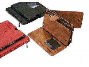 Pouzdro s peněženkou Clearo Luxury Wallet 2v1 pro iPhone 6/6S (3 varianty)