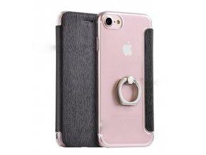 Kryt HOCO Finger Ring Holder Nappa Leather Case pro iPhone 7/8, hnědý