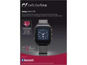 Bluetooth chytré hodinky s monitorem srdečního tepu CellularLine EASYSMART HR, černé
