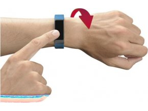 Bluetooth fitness náramek CellularLine EASYFIT TOUCH s dotykovým displejem, modrý + černý