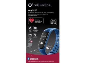 Bluetooth fitness náramek CellularLine EASYFIT TOUCH HR s monitorem srdečního tepu, modrý
