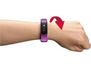 Bluetooth fitness náramek CellularLine EASYFIT TOUCH HR s monitorem srdečního tepu, fialový