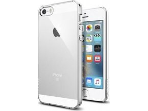 Kryt Spigen Thin Fit, crystal clear - pro iPhone SE/5S/5