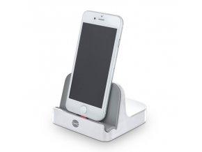 Dokovací stanice / stojánek Forever PDS-02 s Lightning konektorem pro iPhone MFI Licenced, bílá