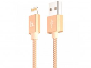 Certifikovaný MFI kabel lightning HOCO pro iPhone a iPad – UPF01 GOLD, 1,2m