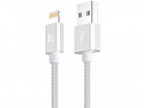 Certifikovaný MFI kabel lightning HOCO pro iPhone a iPad – UPF01 SILVER, 1,2m