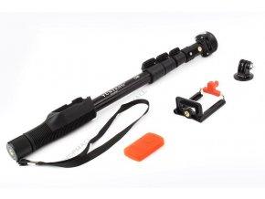 Teleskopická selfie tyč Yunteng - černá